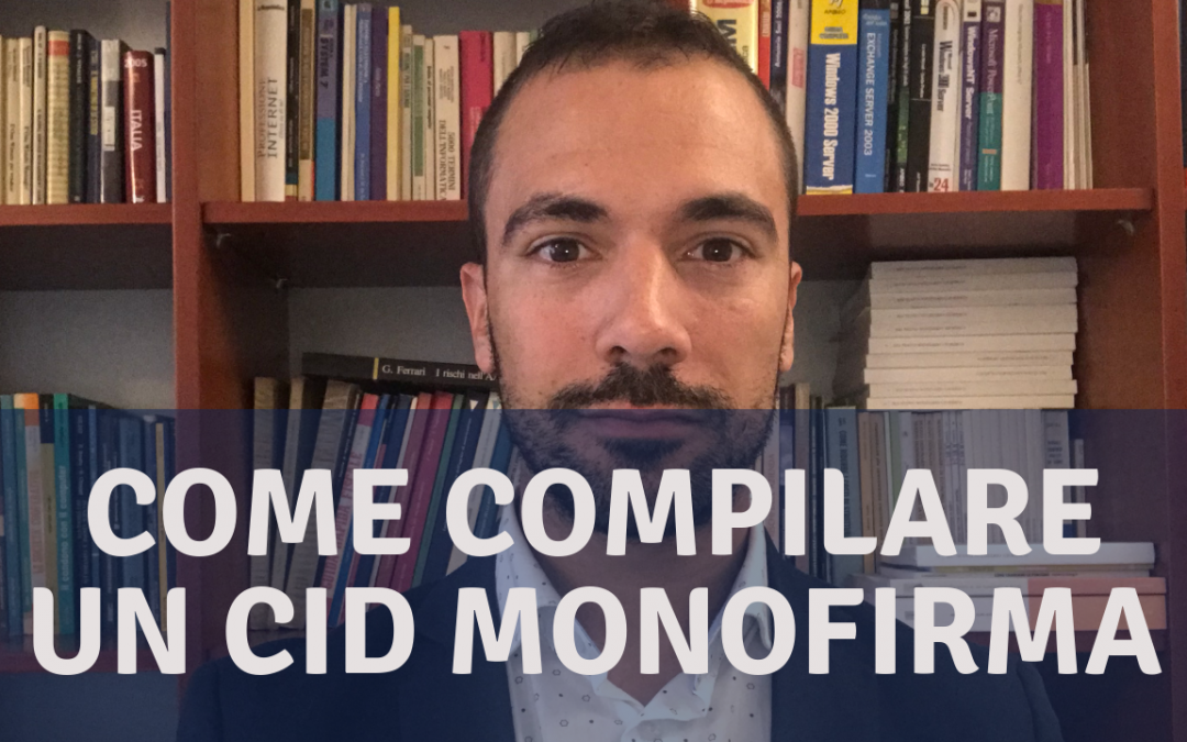 Come compilare un CID Monofirma dopo un Incidente